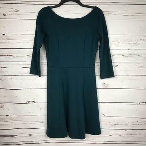 Banana republic teal 3/4 sleeve dress 2